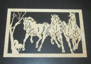 horse wooden wall decor