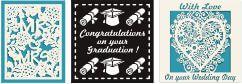 laser-cut congratulations cards