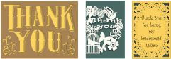 laser-cut thank you cards