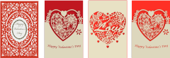 laser-cut Valentines cards